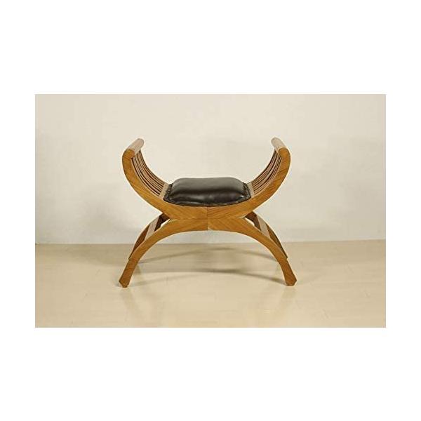 カルティニチェアX ナチュラル スツール 椅子 イス 無垢材 チーク 本皮 天然木/受注生産品 納期約4ヶ月|najam|02