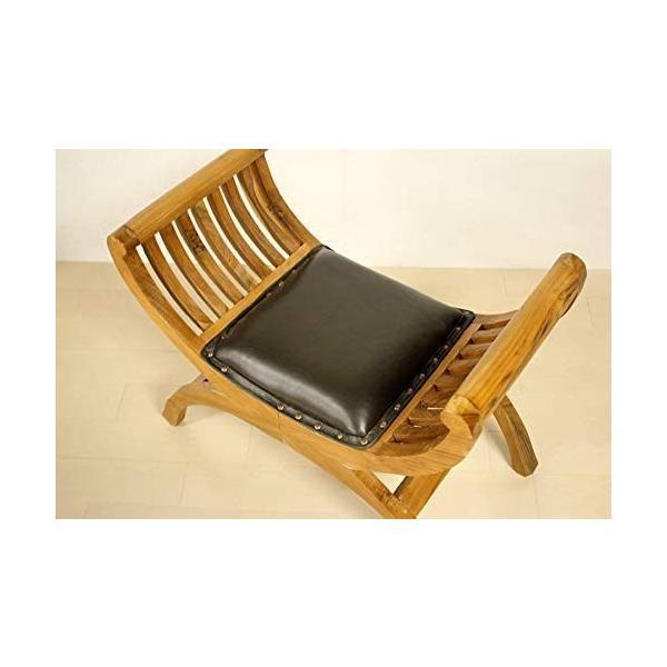 カルティニチェアX ナチュラル スツール 椅子 イス 無垢材 チーク 本皮 天然木/受注生産品 納期約4ヶ月|najam|04