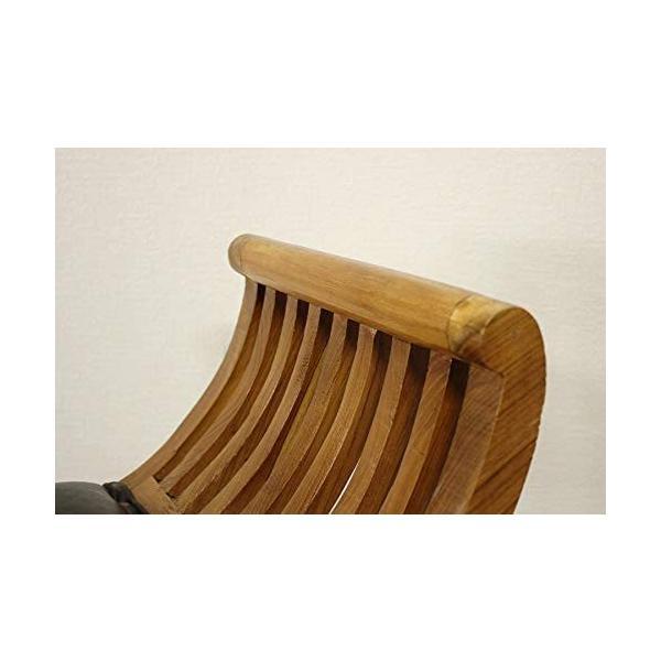 カルティニチェアX ナチュラル スツール 椅子 イス 無垢材 チーク 本皮 天然木/受注生産品 納期約4ヶ月|najam|05