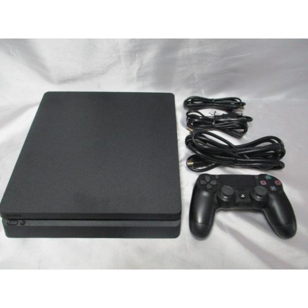 PlayStation 4 ジェット・ブラック 1TB CUH-2100BB01 プレステ4 箱なし すぐに遊べるセット 中古  naka-store 02