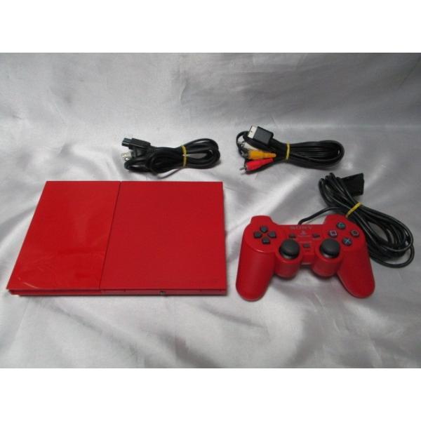 PlayStation 2 シナバー・レッド SCPH-90000CR 箱なし すぐに遊べるセット プレイステーション2 中古|naka-store|02