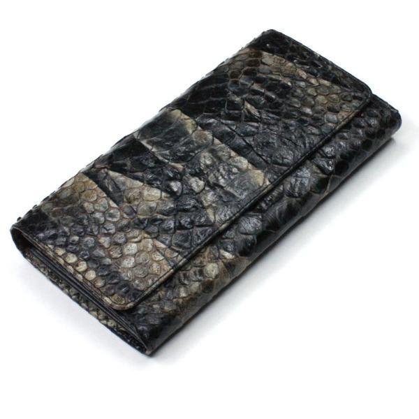 2ba97696c9db 長財布 財布 メンズ レディース ロング ウォレット 蛇革 パイソン ヘビ 革 万能タイプ 小銭入れ ...