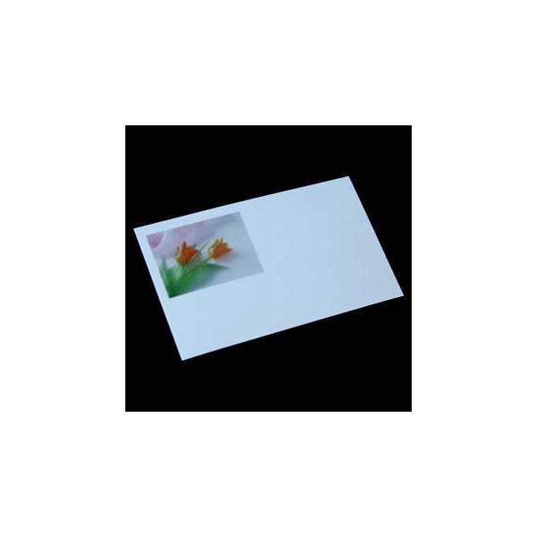 名刺用 用紙 4号 [50枚入] フォトカラー花 AJ-035 チューリップ【名入れ印刷なし 紙の販売です】【4号  写真入り 花】