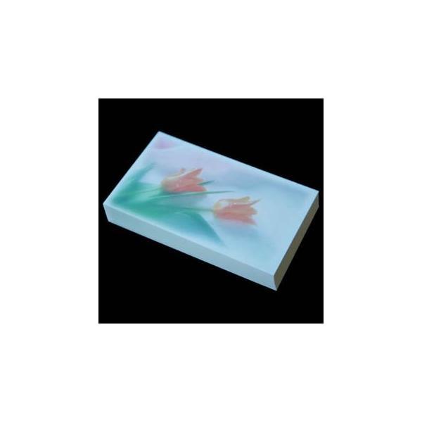名刺用 用紙 4号 [50枚入] フォト FL-5 チューリップ【名入れ印刷なし 紙の販売です】【4号  写真入り】