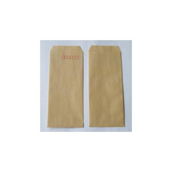 長4封筒 - クラフト (紙厚: 50)(郵便番号の枠:あり)(スミ貼) 1000 枚