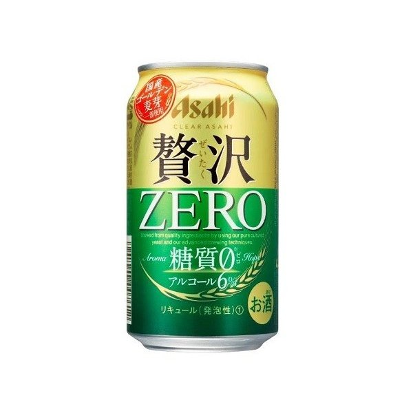 〔ビール類〕〔発泡酒〕アサヒ〔新ジャンル〕クリアアサヒ贅沢ゼロ350ml1ケース(24本入り)