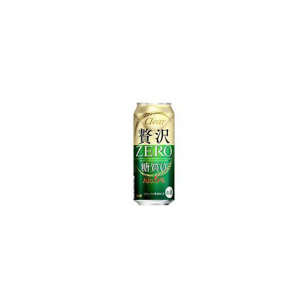〔ビール類〕〔発泡酒〕アサヒ〔新ジャンル〕クリアアサヒ贅沢ゼロ500ml1ケース(24本入り)