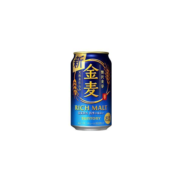 〔ビール類〕〔発泡酒〕サントリー〔新ジャンル〕金麦350ml1ケース(24本入り)
