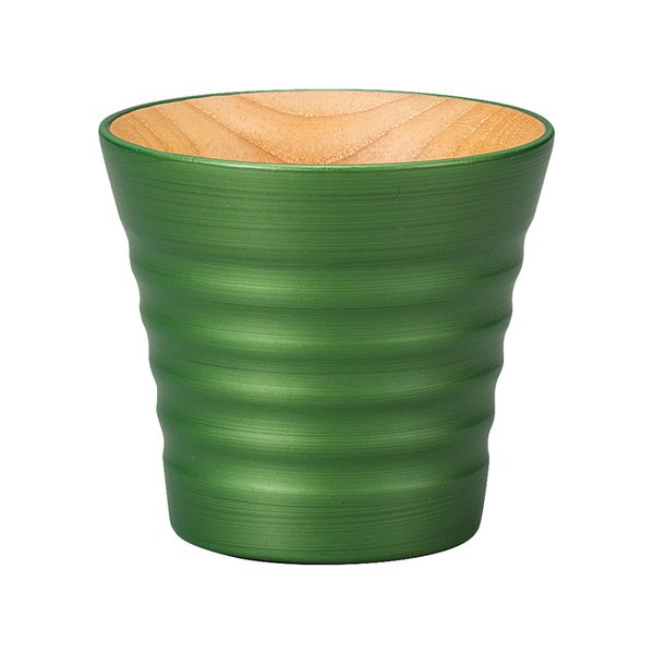 パール漆 和み ラインカップ パールグリーン|nakayakeitei