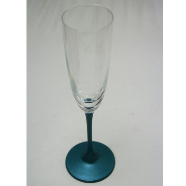 パール漆グラス シャンパングラス パールブルー|nakayakeitei