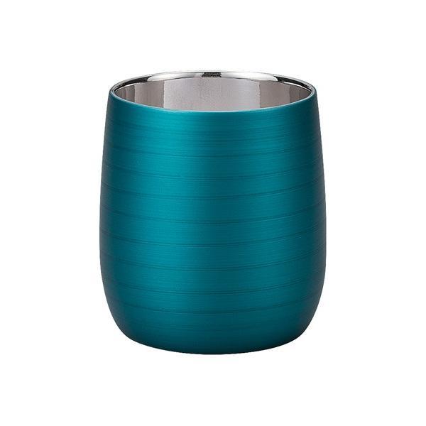 漆磨カップ(二重ロックカップだるま パールブルー)|nakayakeitei