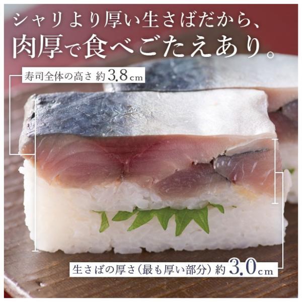 [冷蔵]分厚い!これが刺身同然・ 福井の生さば寿司黒酢漬け【通常サイズ】これこそ鯖寿司!寒流・日本海産のサバは一味違います!|namasabazushi|02