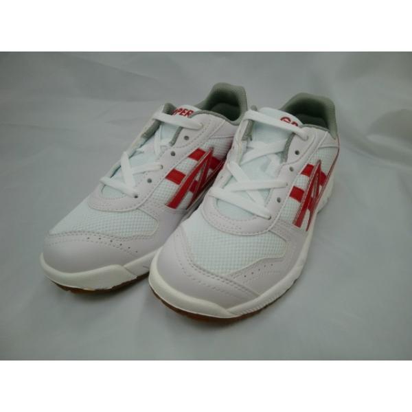 アサヒ グリッパー37 (室内履きシューズ) 白/赤