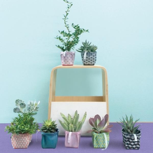 鉢カバー ガーデニング 園芸用雑貨 uchi-green 麻の葉|namustore|05