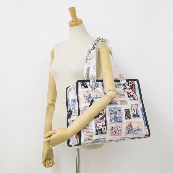キャスキッドソン Cath Kidston ハンドバッグ Large Pandora Bag レディース Frames Oyster Shell マルチ柄 787161