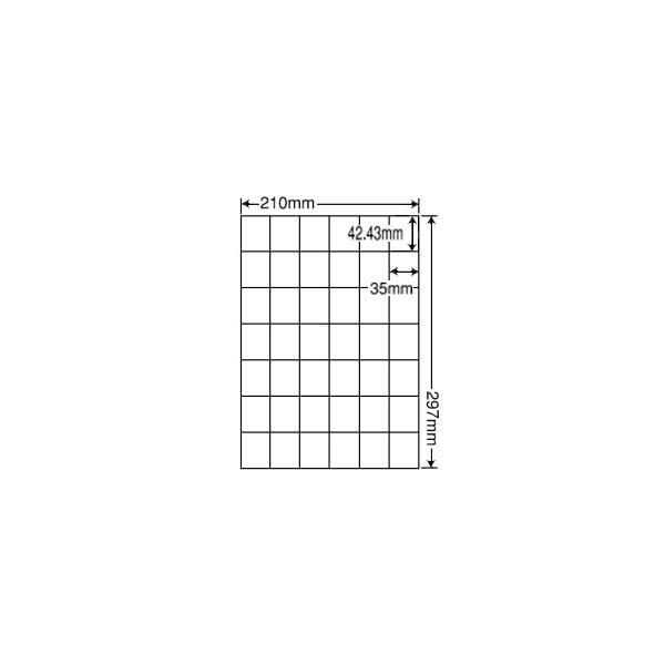 C42Q(VP3) ラベルシール 3ケースセット 1500シート A4 42面 42.43×35mm マルチタイプ 表示・商用ラベル 管理ラベル 東洋印刷 ナナコピー C42Q
