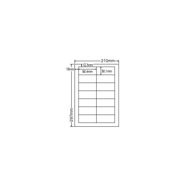 MCL-17(VP2) マット紙 ラベルシール 1000シート A4 14面 86.4×38.1mm ナナクリエイト 東洋印刷 nana レーザープリンタ用 宛名ラベル