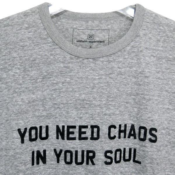 uniform experiment ユニフォームエクスペリメント YOU NEED CHAOS Tシャツ UE-134086|nanainternational|03