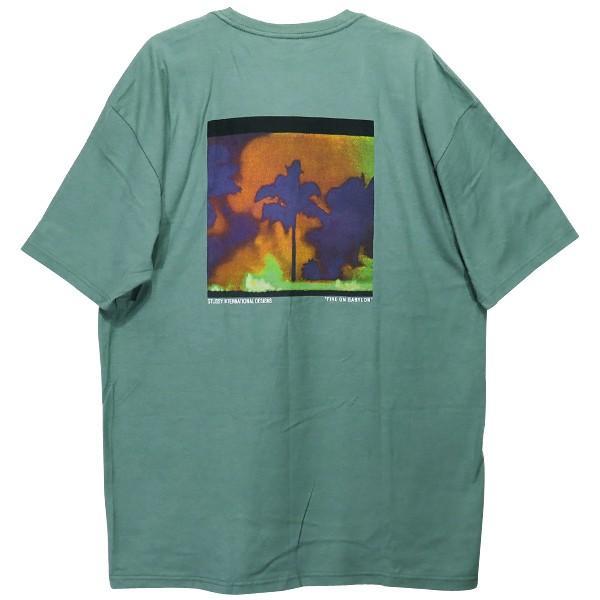 STUSSY ステューシー FIRE ON BABYLON Tシャツ|nanainternational|02