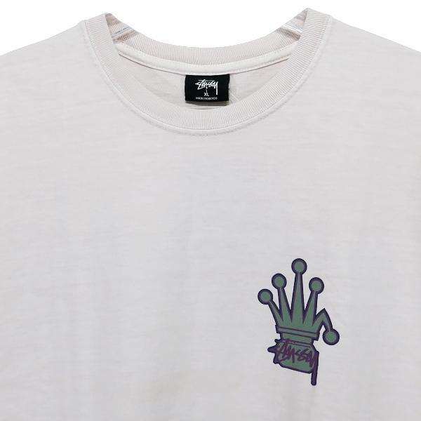 STUSSY ステューシー CROWNED PIGMENT DYED Tシャツ nanainternational 03