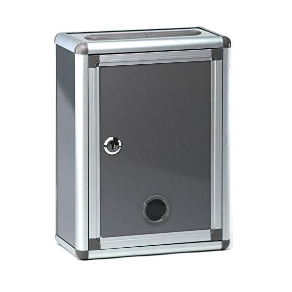 アンケートボックス 鍵付きBOX シルバーグレー 横幅22cm