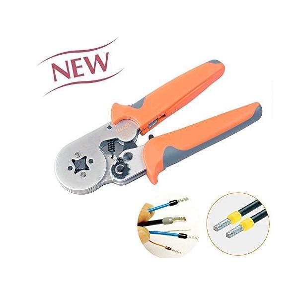 IWISS フェルール用 圧着工具 ワイヤーエンドスリーブ 絶縁付棒端子 圧着ペンチ DIN46228-4