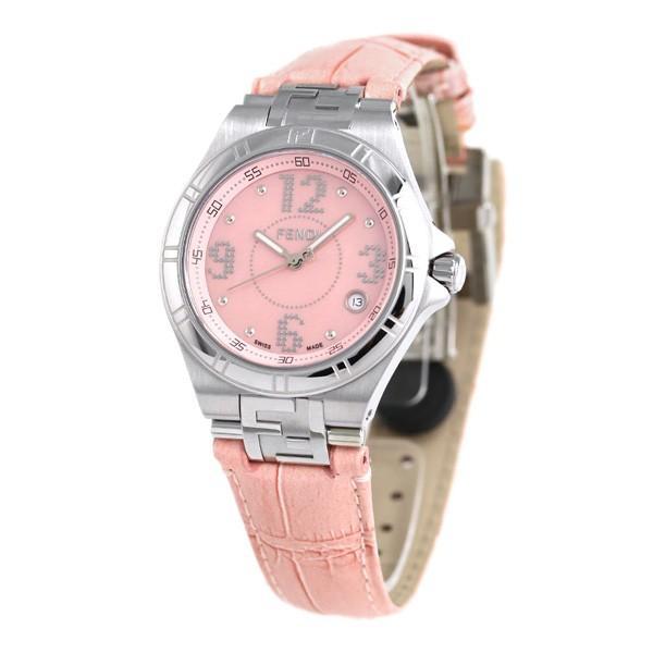 フェンディ ハイスピード 36mm 革ベルト レディース 腕時計 F414377 FENDI