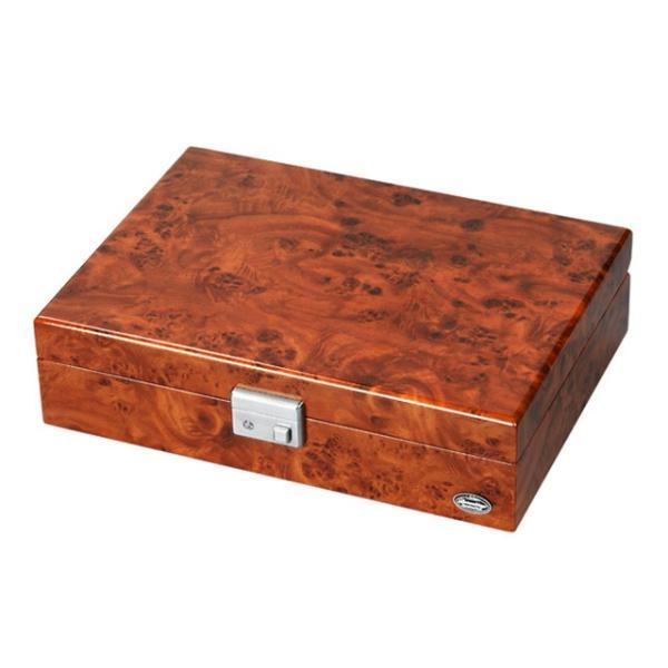 15日なら!ポイント最大20倍 腕時計 収納ケース 8本 木製 ブラウン 時計 コレクションケース 鍵付き LU51010RD