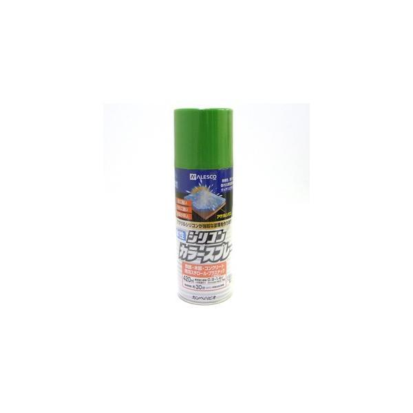 【カンペハピオ】スプレー塗料 水性シリコンカラースプレー【420ml ジェムグリーン】