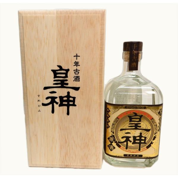 東酒造皇神(すめがみ)黒原酒十年古酒木箱入り芋焼酎36度720ml