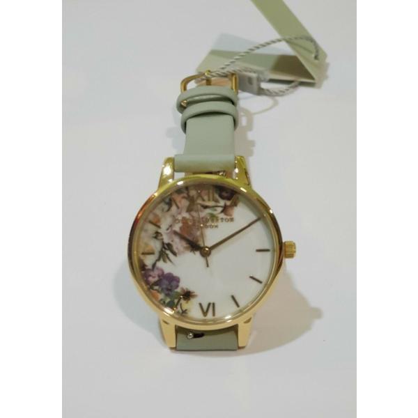 オリビアバートン 腕時計 Olivia Burton OB16EG112 Enchanted Garden Sage Leather Ladies Watch