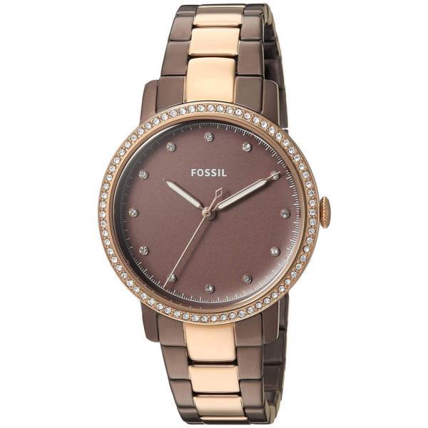 フォッシル 腕時計 Fossil ES4300 Neely Brown Dial Two Tone Stainless Steel レディース Watch
