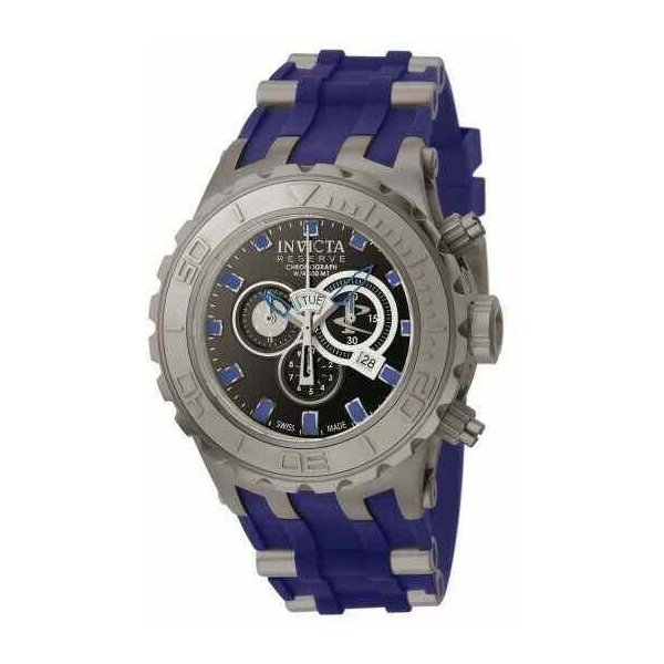 インビクタ 腕時計 INVICTA SPECIALTY SUBAQUA サブアクア クォーツ TITANIUM CASE インヴィクタ BLUE RUBBER ショップ SANDBLAST 爆売り TONE W BAND