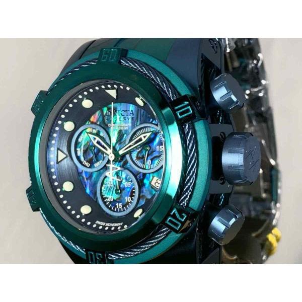 インビクタ 腕時計 Invicta Reserve 53mm Boulon Zeus Suisse クロノグラフe Abalone Dial Bracelet Watch インヴィクタ nankuru 02
