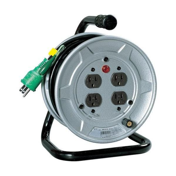 配送員設置送料無料 日動工業 電工ドラム 標準型100Vドラム 10m アース付 驚きの値段 NS-E14