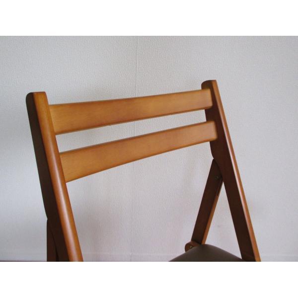 折りたたみチェア 木製椅子 送料無料でお届けします 売り出し ダイニングチェアー br hd-6220 ブラウン
