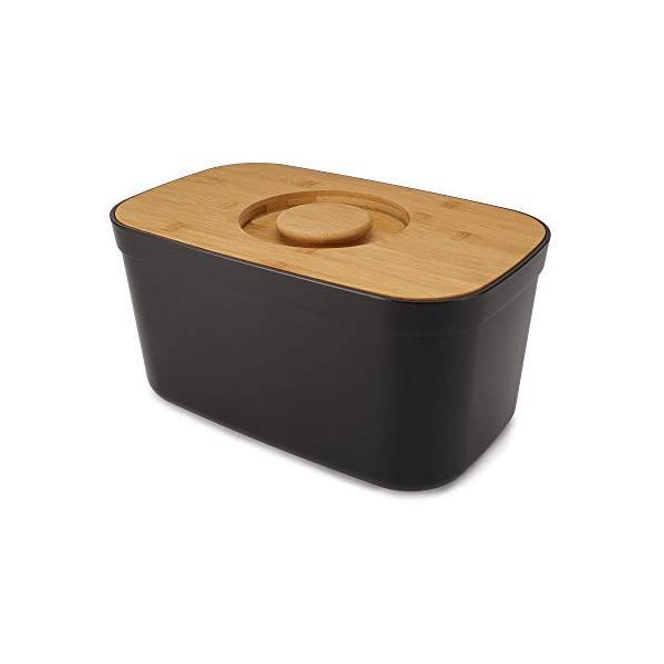 Joseph パン用保存容器 ブラック 37 x !超美品再入荷品質至上! 22 希少 ライト 81103 ブレッドケース cm 18