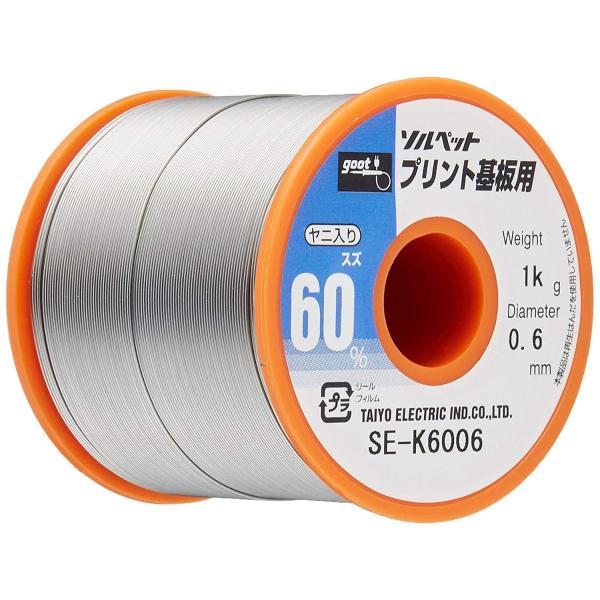 新色追加して再販 グット 誕生日/お祝い はんだ0.6mm SE-K6006 1Kg巻