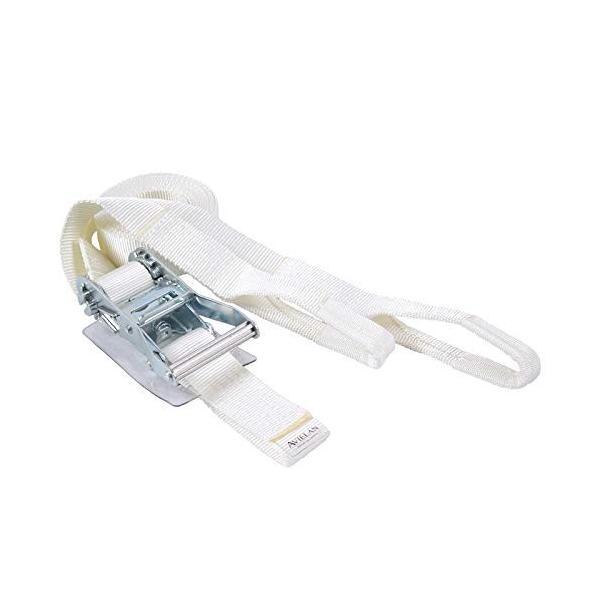 アヴィエラン AVIELAN ラッシングベルト 一部予約 Iフック ×6m ホワイト 保証 固定側0.5m