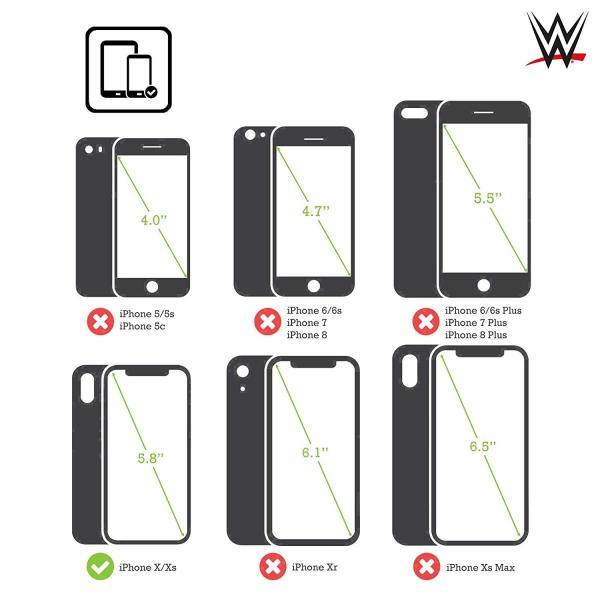 オフィシャル WWE ロゴ Finn Balor iPhone X/iPhone XS 専用ハードバックケース|nano1|03