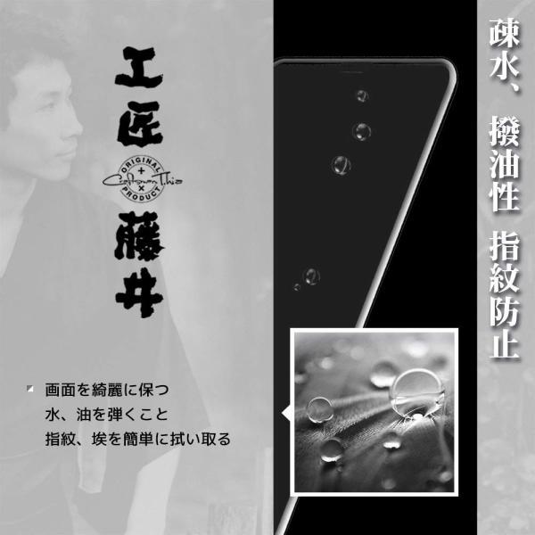 工匠藤井 iphone xs/iphone x 専用 アンチグレアフィルム 『優れたサラサラ感ゲームに最適指紋認証 』 (強化ガラスフィルム|nano1|10