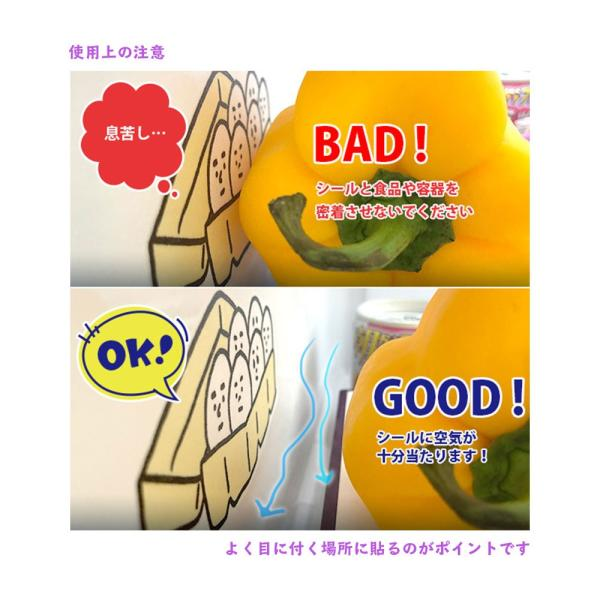 【冷蔵庫の消臭】ニオイ消シール 選べる6柄 クリックポスト対応|nanodiamonds|04
