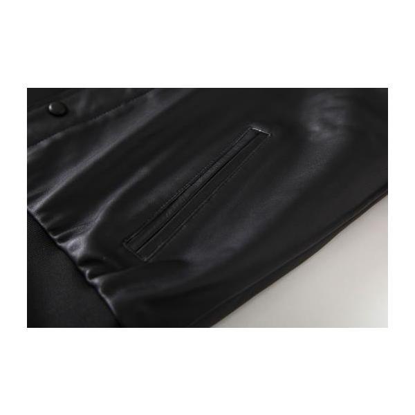 ライダース ジャケット メンズ アウター ラム革レザージャケット本革 ミリタリー立て襟シングル 【高級羊革】 革ジャン ライディングライダース MA-1 Gジャン|nantemostore|15