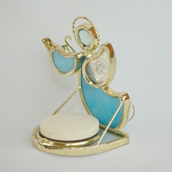 ステンドグラスアロマスタンド バイオリンの天使(ブルー)|naomifactory|02