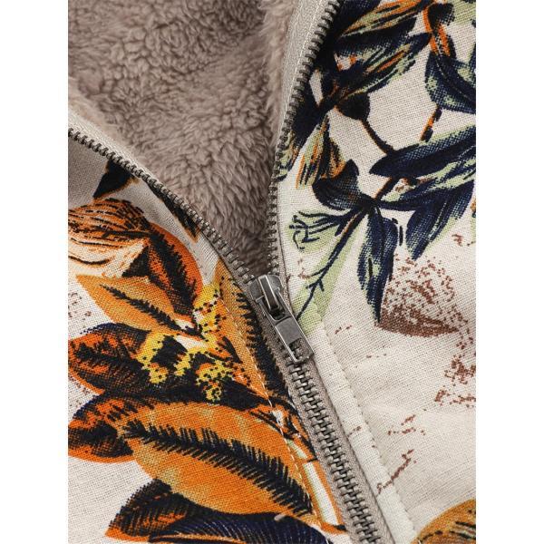 コート レディース 40代 ジャケット カーディガン アウター 花柄 冬 羽織 厚手 裏起毛 体型カバー 長袖 ショート丈 大きいサイズ パーカー ゆったり 通学 50代 |nara-amaken|10