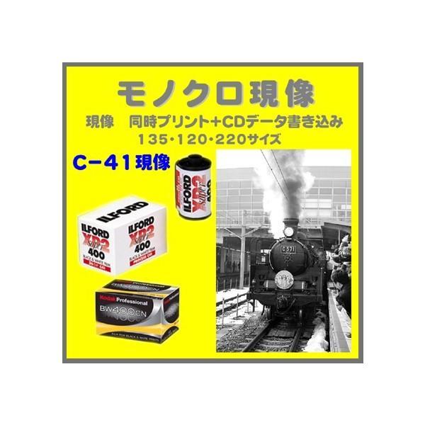 モノクロフィルム モノクロ現像 (C−41)同時プリント+CDデータ書き込み Kodak ILFORD 1本から受付