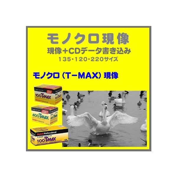 モノクロフィルム  モノクロ現像 (T−MAX)+CDデータ書き込み  Kodak T-MAX 100 400 P3200 1本から受付