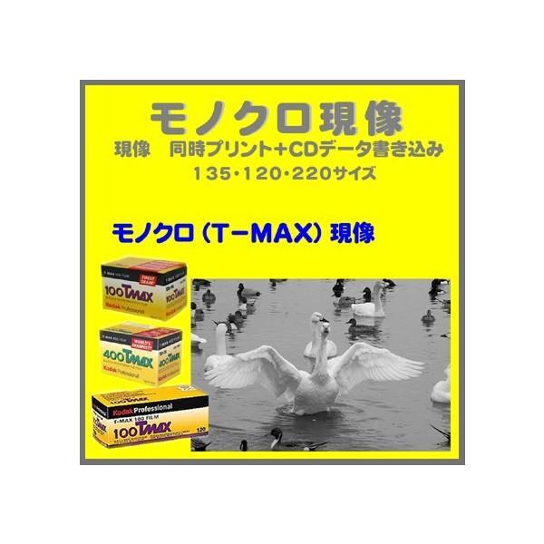モノクロフィルム モノクロ現像 (T−MAX) 同時プリント+CDデータ書き込み  Kodak T-MAX 100 400 P3200 1本から受付