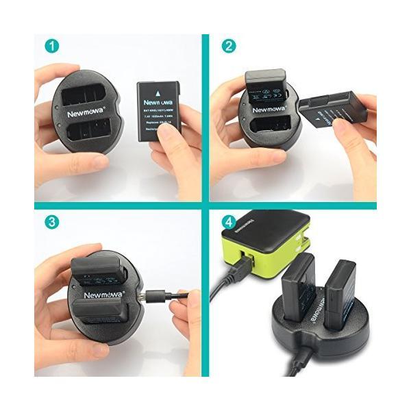 Newmowa EN-EL14 EN-EL14a 互換バッテリー 2個  充電器 セットNikon EN-EL14 EN-EL14a Nikon D3100 D3200 D3300 D3400 D3500 D5100 D5200 D5300 D
