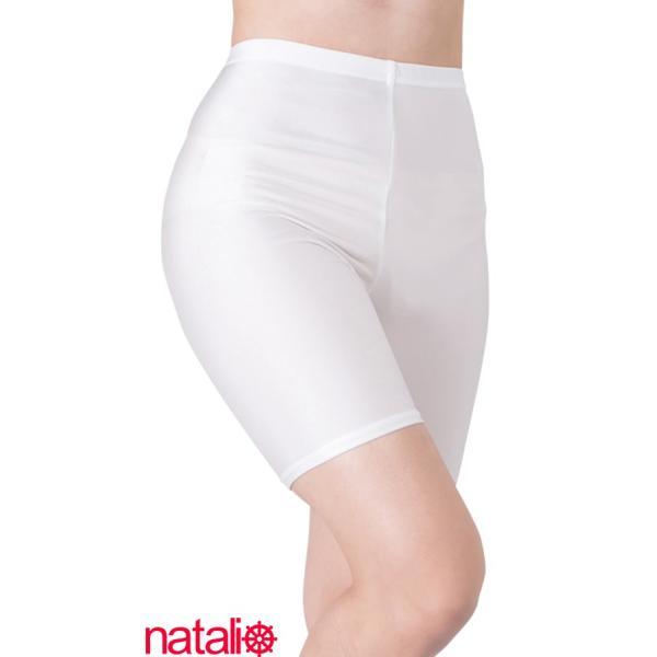 日本製 スパッツ 3分丈 白 2WAYトリコット 吸汗速乾 ML-JML フィットネス エアロビクス ヨガウエア ジャズダンス 舞踊など|natalie-go|06